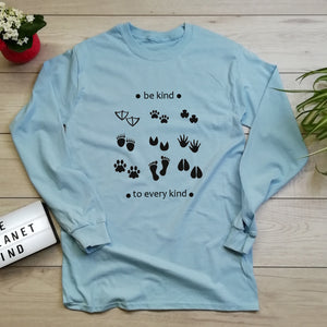 Be Kind To Every Kind Long Sleeve Eco T Shirt