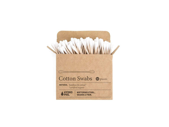 Cotton ear buds made from bamboo & cotton, biodegradable by Hydrophil - One Planet Mind