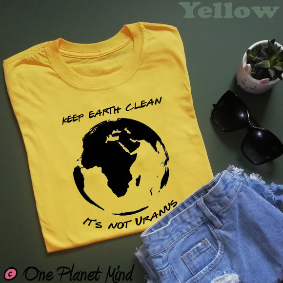 Keep Earth Clean it's not Uranus Eco T Shirt