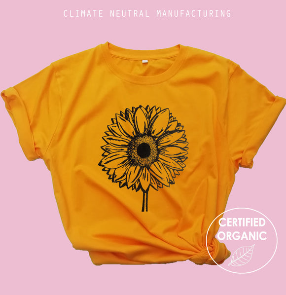 Sunflower Organic T Shirt