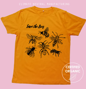 Save The Bees Organic T Shirt