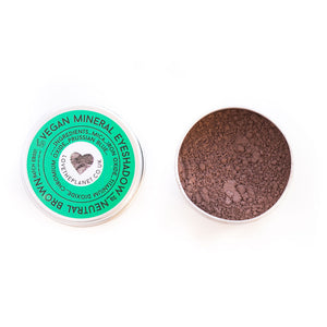 Vegan Mineral Eyeshadow – Neutral Brown – Refillable Tin (2g)
