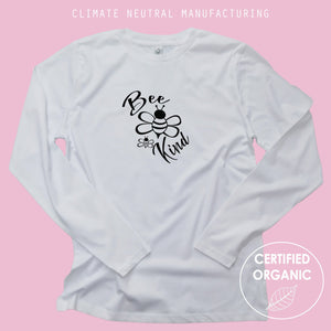 Bee Kind Organic Long Sleeve Shirt