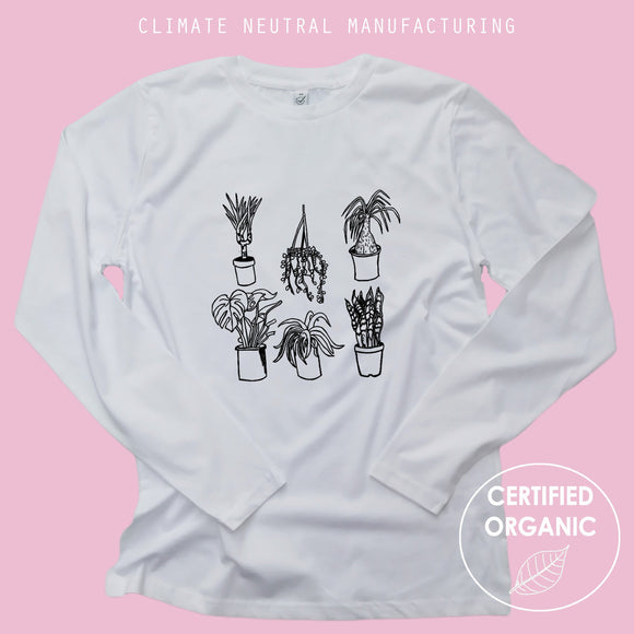Houseplants Organic Long Sleeve Shirt