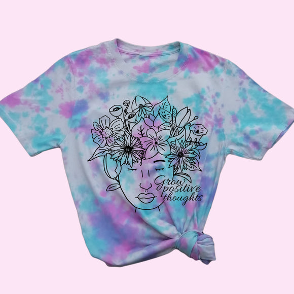 Grow Positive Thoughts Tie Dye Shirt