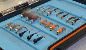 20 Count Premium Jig Fly Assortment with Silicone Fly Box