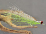 Lime and White Clouser