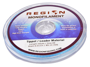 0X Monofilament Tippet Material 50yd