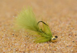Olive Micro Woolly Bugger Jig Fly
