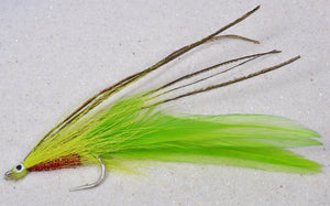 Chartreuse Saltwater 3/0 Big Game Fly