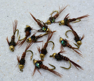 Bead Head Flash Back Pheasant Tail Nymph Fly