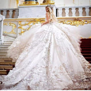 Amazing Flower Wedding Gown  *specialty item