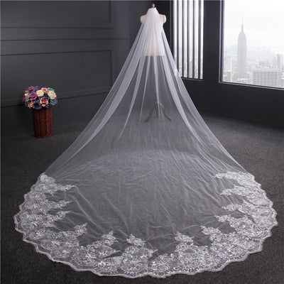beautiful long bridal veil...