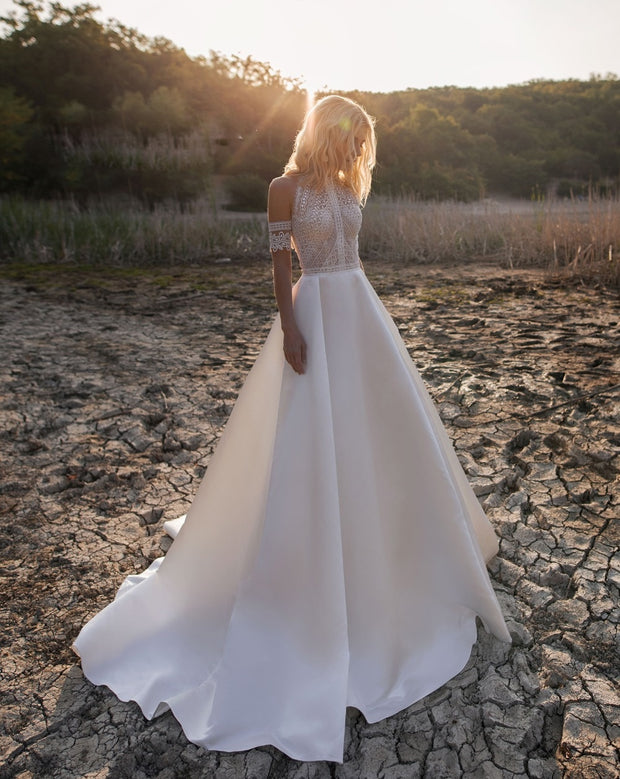 Lace Satin Wedding dress