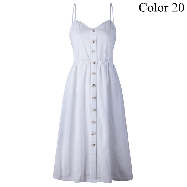 Elegant Button Down Dress *Plus Size Available