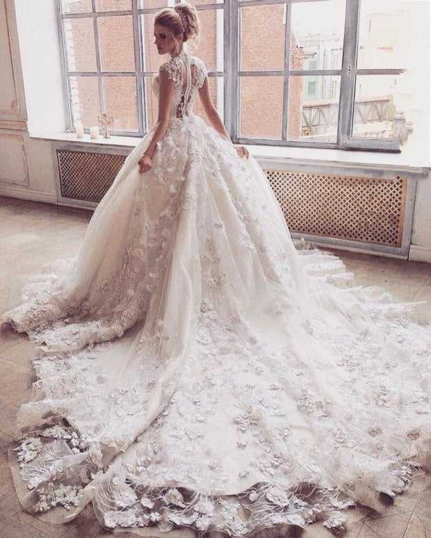 Gorgeous Flower Lace Gown