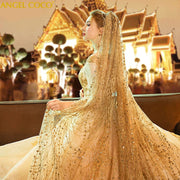 Luxury  Wedding Dress Traditional with Veil