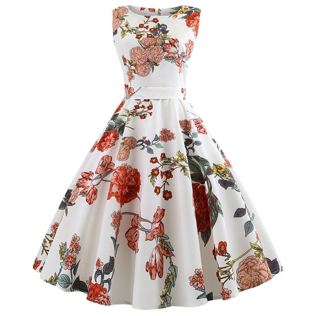 Elegant Traditional  Floral Dress *Plus Size Available