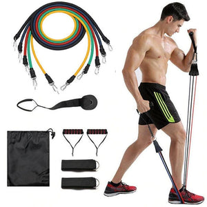 Display of USA Exercise Resistance Bands Kit with Door Anchor (11pc band Set) - Trusted Gadget Store - Resistance Band | Highly Reviewed Products that solve real problems. https://Trustedgadgetstore.com