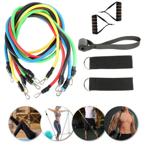 Display of Exercise Resistance Bands Kit with Door Anchor (11pc band Set) - Trusted Gadget Store - Resistance Band | Highly Reviewed Products that solve real problems. https://Trustedgadgetstore.com