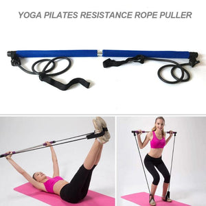 Display of Blue Multifunctional Pilates Bar Kit with Resistance Bands - Trusted Gadget Store - Yoga Pilates Bar | Highly Reviewed Products that solve real problems. https://Trustedgadgetstore.com