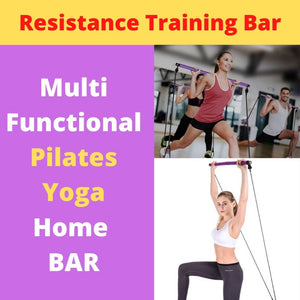 Display of Purple Multifunctional Pilates Bar Kit with Resistance Bands - Trusted Gadget Store - Yoga Pilates Bar | Highly Reviewed Products that solve real problems. https://Trustedgadgetstore.com