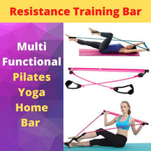 Load image into Gallery viewer, Display of Pink Multifunctional Pilates Bar Kit with Resistance Bands - Trusted Gadget Store - Yoga Pilates Bar | Highly Reviewed Products that solve real problems. https://Trustedgadgetstore.com