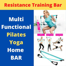 Load image into Gallery viewer, Display of Sky Blue Multifunctional Pilates Bar Kit with Resistance Bands - Trusted Gadget Store - Yoga Pilates Bar | Highly Reviewed Products that solve real problems. https://Trustedgadgetstore.com
