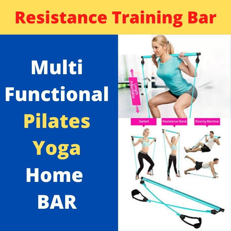 Display of Sky Blue Multifunctional Pilates Bar Kit with Resistance Bands - Trusted Gadget Store - Yoga Pilates Bar | Highly Reviewed Products that solve real problems. https://Trustedgadgetstore.com