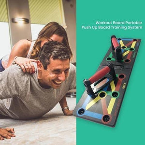 Display of 13-in-1 Push Up Board with Resistance Bands - Trusted Gadget Store - Push Up Board | Highly Reviewed Products that solve real problems. https://Trustedgadgetstore.com