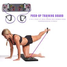 Load image into Gallery viewer, Display of 13-in-1 Push Up Board with Resistance Bands - Trusted Gadget Store - Push Up Board | Highly Reviewed Products that solve real problems. https://Trustedgadgetstore.com