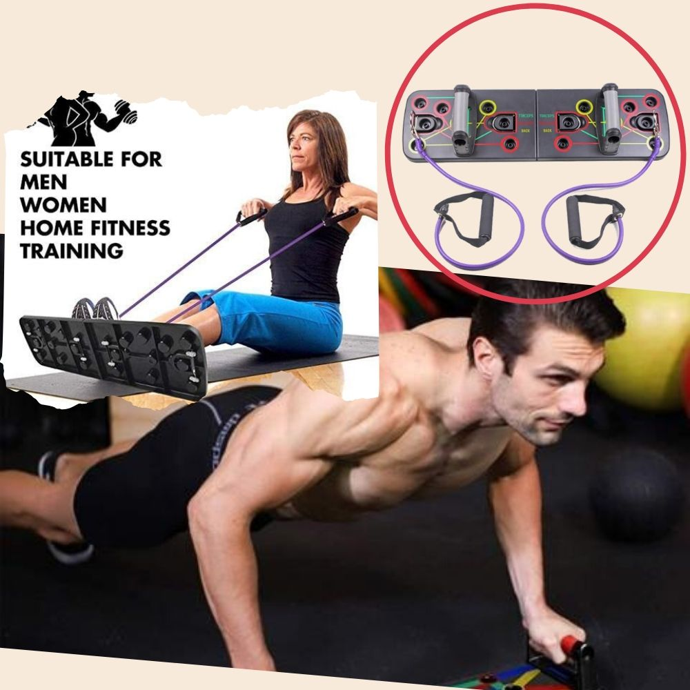 Display of United States / With pull rope 13-in-1 Push Up Board with Resistance Bands - Trusted Gadget Store - Push Up Board | Highly Reviewed Products that solve real problems. https://Trustedgadgetstore.com