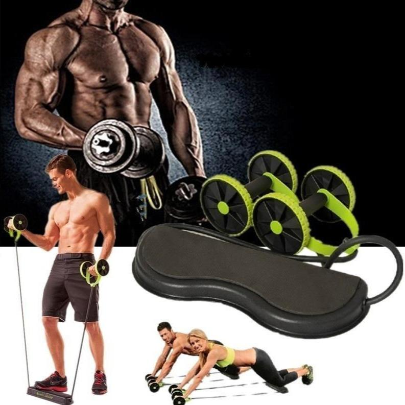 Display of United States Wheel Abs Roller with Resistance Bands Combo - Trusted Gadget Store - Ab Roller | Highly Reviewed Products that solve real problems. https://Trustedgadgetstore.com