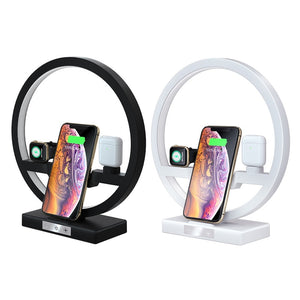 Display of 3 IN 1 Lamp with Wireless Charger Dock for iPhone - iWatch - Airpods - Trusted Gadget Store - Lamp | Highly Reviewed Products that solve real problems. https://Trustedgadgetstore.com