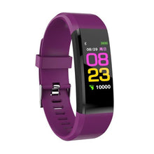 Load image into Gallery viewer, Display of Royal Purple / United States Waterproof Smart Fitness Tracker with BP, HR Monitor & Phone Alerts - Trusted Gadget Store - Fitness Tracker | Highly Reviewed Products that solve real problems. https://Trustedgadgetstore.com