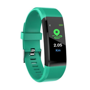 Display of Ocean Green / United States Waterproof Smart Fitness Tracker with BP, HR Monitor & Phone Alerts - Trusted Gadget Store - Fitness Tracker | Highly Reviewed Products that solve real problems. https://Trustedgadgetstore.com