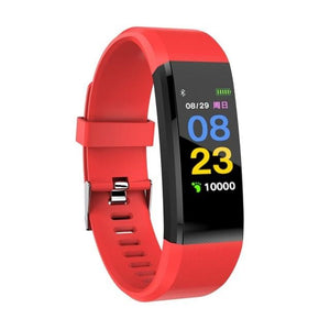Display of Pearl Red / United States Waterproof Smart Fitness Tracker with BP, HR Monitor & Phone Alerts - Trusted Gadget Store - Fitness Tracker | Highly Reviewed Products that solve real problems. https://Trustedgadgetstore.com