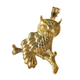 10K Owl Pendant Top Gold