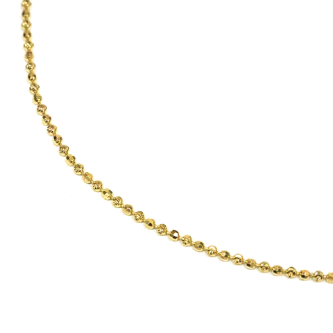 18KGP Cut Ball Chain Necklace Gold