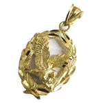 10K Eagle Pendant Top Gold