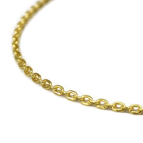 10K Cross Cable Chain Necklace Gold