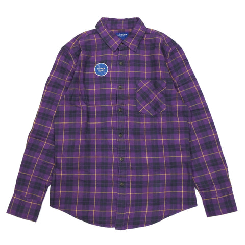 Super Soft Flannel Check LS Shirts Purple