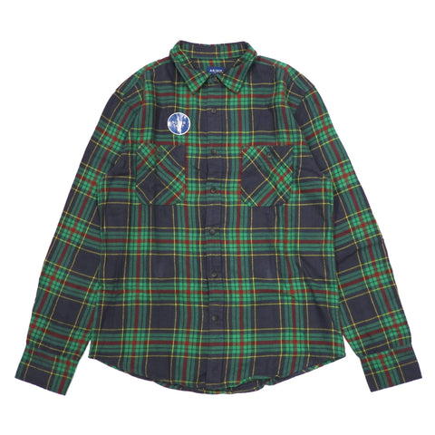 Super Soft Flannel Check LS Shirts Green