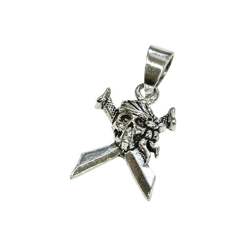 SILVER Pirate Pendant Top