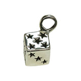 SILVER Dice Pendant Top
