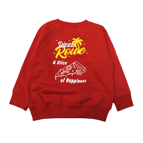 PIZZA ROUTE  Logo Kids Crewneck