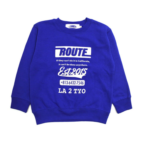 【キッズ】ROUTE Original Logo Kids Crew 90-130cm