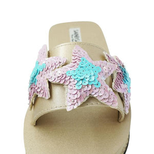 Hamptons Blue - Waterproof Espadrille Flat