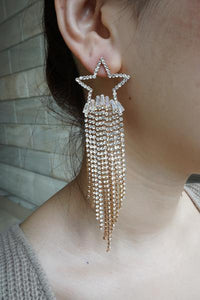 Shooting Star Earrings (Zirconia & Gold plated)