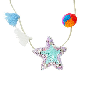 Hampton Blue Star Kids Pom Pom Necklace